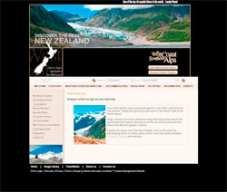 Tourism West Coast Website