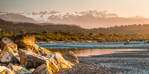 The Southern Alps from Three Mile Beach