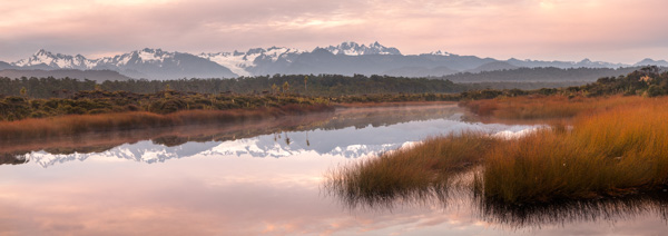 Five Mile Lagoon and Southern Alps