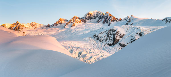 Last light in The Southern Alps