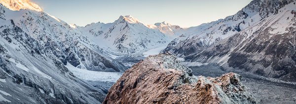 Ball Ridge sunrise with Tasman Glacier