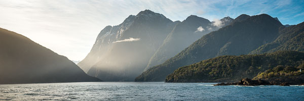 Morning light in Milford Sound