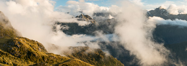 Swirling Clouds in The Southern Alps